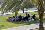 Sharjah-Picknick-am-Hafen